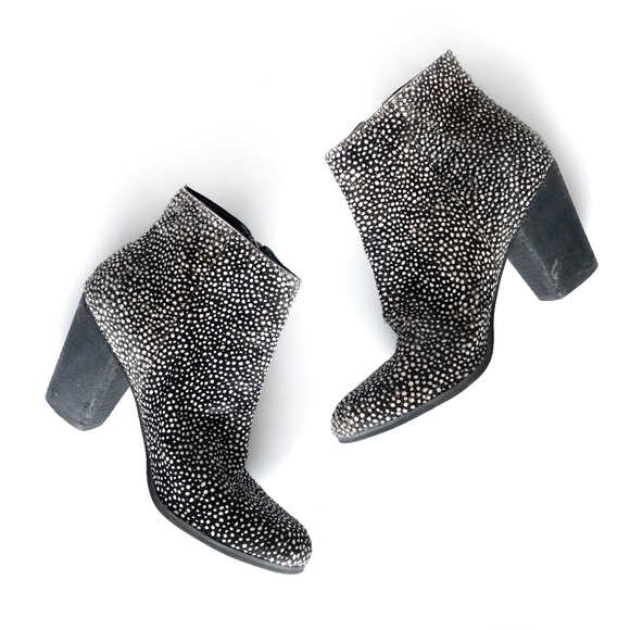 bp Shoes - BP Nordstrom Real Fur Printed Calf Hair Bootie 10